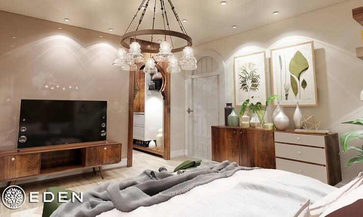 Bedroom:  غرفة نوم تنفيذ Eden Designs,