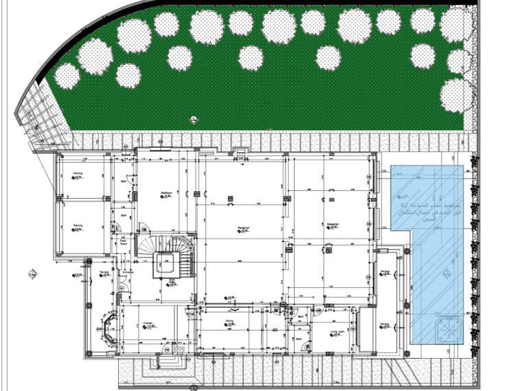 site plan من smarthome حداثي أسمنت