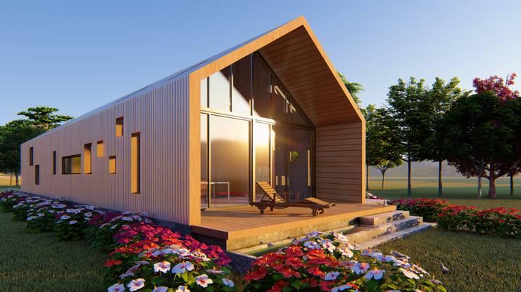 CASA C/V: Casas de campo de estilo  por Primer Clove Arquitectos,