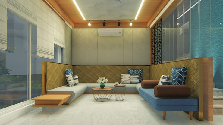 Living room by Architects at Work,