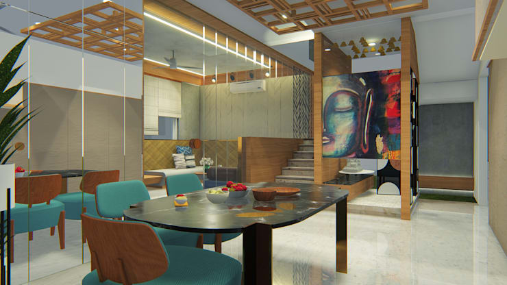 Dining room by Architects at Work,