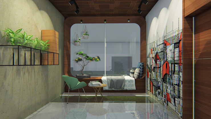 Corridor & hallway by Architects at Work,