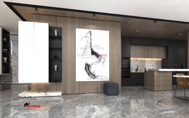 مشروع سكنى مدينة 6 اكتوبر:  غرفة المعيشة تنفيذ smarthome,