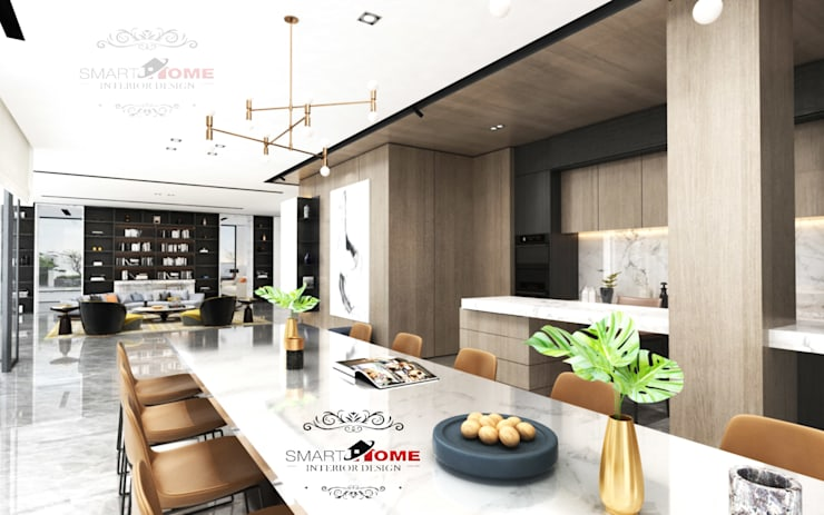 مشروع سكنى مدينة 6 اكتوبر:  مطبخ تنفيذ smarthome,