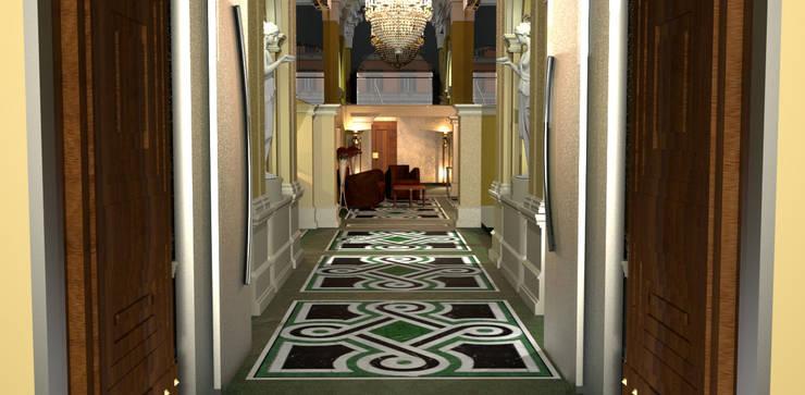 Corridor & hallway by ARTE DELL' ABITARE