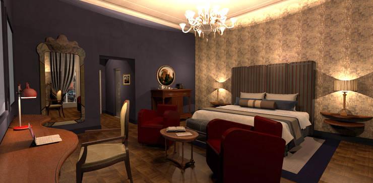 Bedroom by ARTE DELL' ABITARE