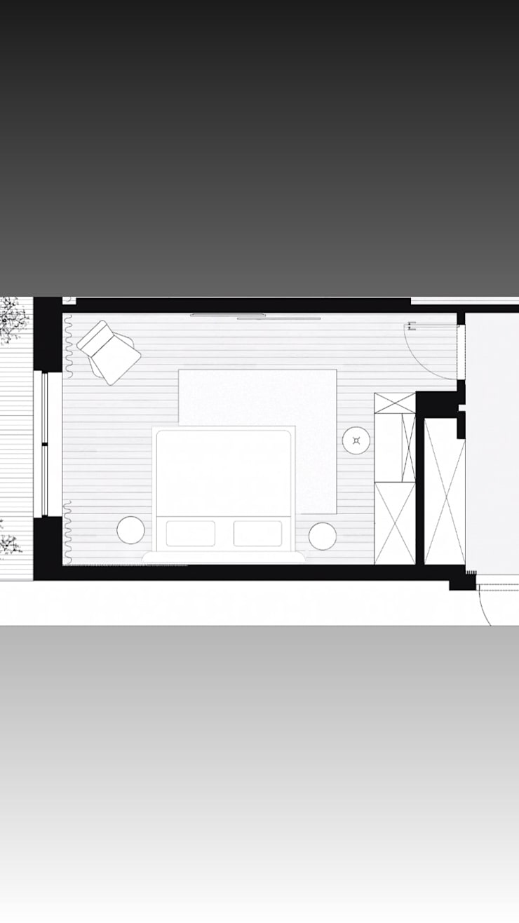 غرفة النوم واهمية توزيعها:  غرف نوم صغيرة تنفيذ smarthome,