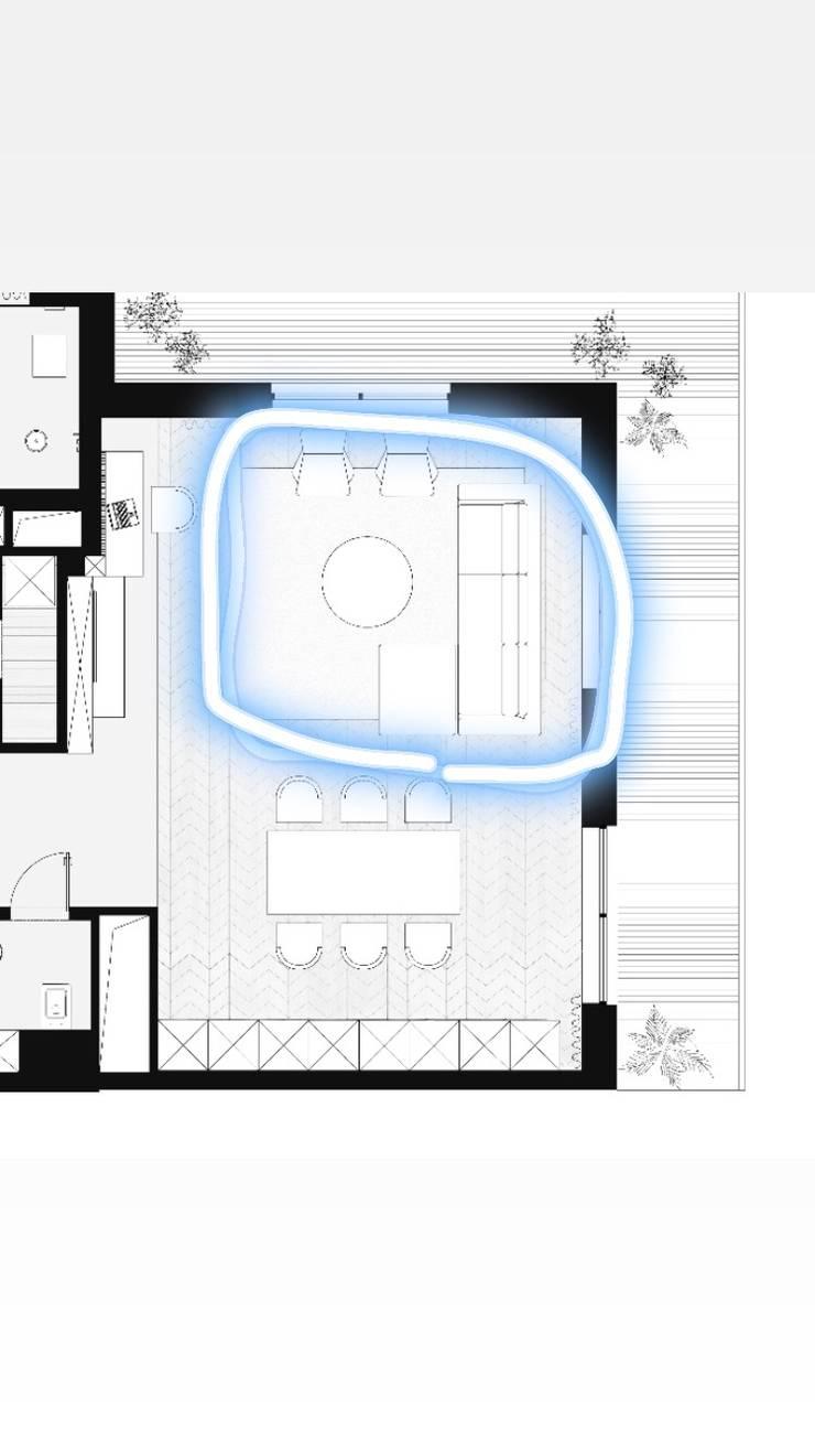 غرفة معيشة :  غرفة المعيشة تنفيذ smarthome,