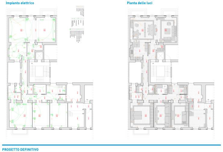 Cuartos pequeños de estilo  por Chantal Forzatti architetto, Colonial Plata/Oro