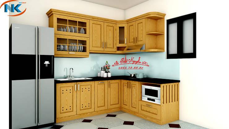 Tổng hợp mẫu tủ bếp gỗ sồi nga hà nội giá rẻ:   by Nội thất Nguyễn Kim,