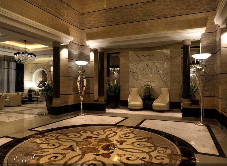 entrance :  الممر والمدخل تنفيذ smarthome,