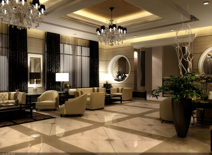 big majles :  غرفة المعيشة تنفيذ smarthome,