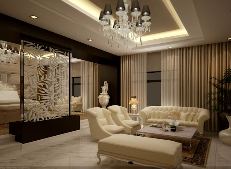 bed room :  غرفة المعيشة تنفيذ smarthome,
