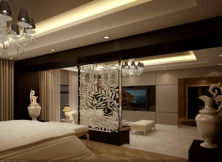 bedroom:  غرف نوم صغيرة تنفيذ smarthome,