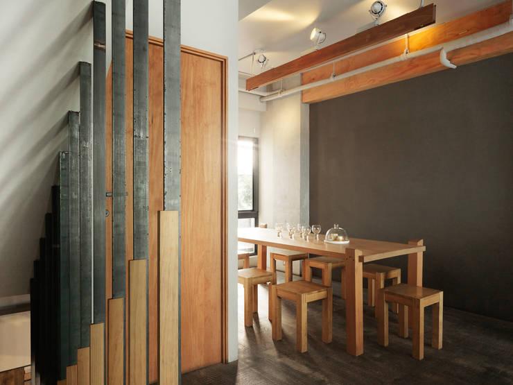 木耳生活藝術-商業空間/新竹・窯烤披薩店:  餐廳 by 木耳生活藝術,