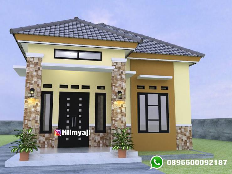 Rumah minimalis 7x13 1 lantai 3 kamar tidur 2 kamar mandi :  oleh hilmyaji,