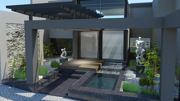 Proposed new entrance :  Houses by Edge Design Studio Architects,
