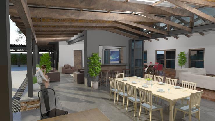 Patio Living:  Patios by Edge Design Studio Architects,