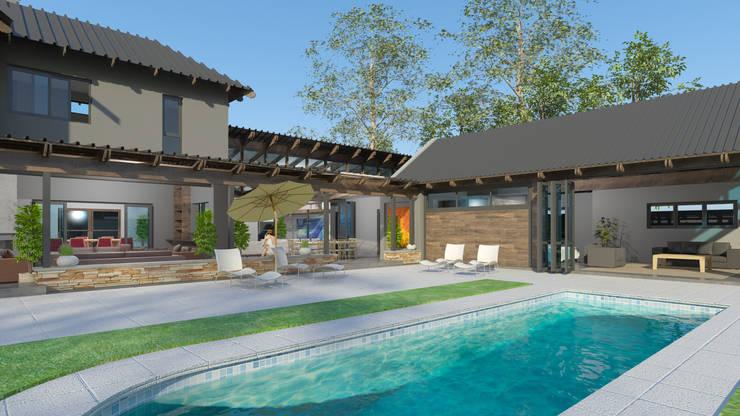 Outdoor living:  Garden Pool by Edge Design Studio Architects,
