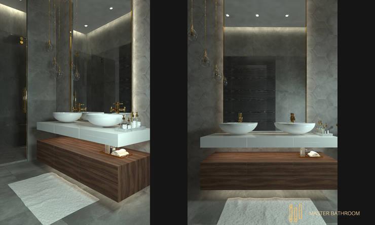 Duplex Apartment   El Banafseg:  Bathroom by Saif Mourad Creations,