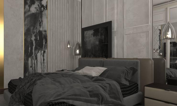 Duplex Apartment   El Banafseg:  Bedroom by Saif Mourad Creations,