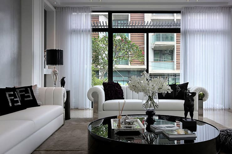 Living room by 大桓設計顧問有限公司, Classic