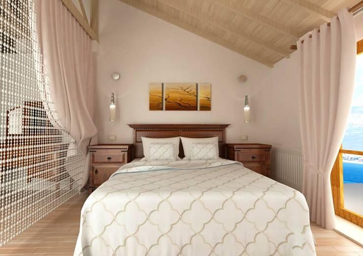 KALYA İÇ MİMARLIK \ KALYA INTERIOR DESIGN – Yatak Odası:  tarz Yatak Odası, Klasik Ahşap Ahşap rengi