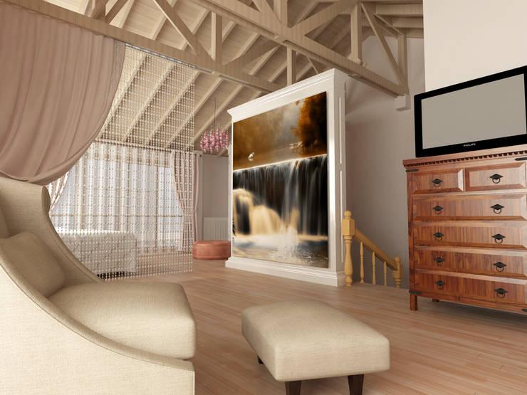 KALYA İÇ MİMARLIK \ KALYA INTERIOR DESIGN – Yatak Odası - Dinlenme Alanı (Sonrası):  tarz Yatak Odası, Klasik Ahşap Ahşap rengi