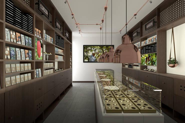 Distrito Chocolate: Espacios comerciales de estilo  por Gamma,
