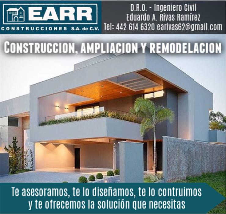 Viviendas colectivas de estilo  por EARR CONSTRUCCIONES, S.A. DE C.V., Minimalista