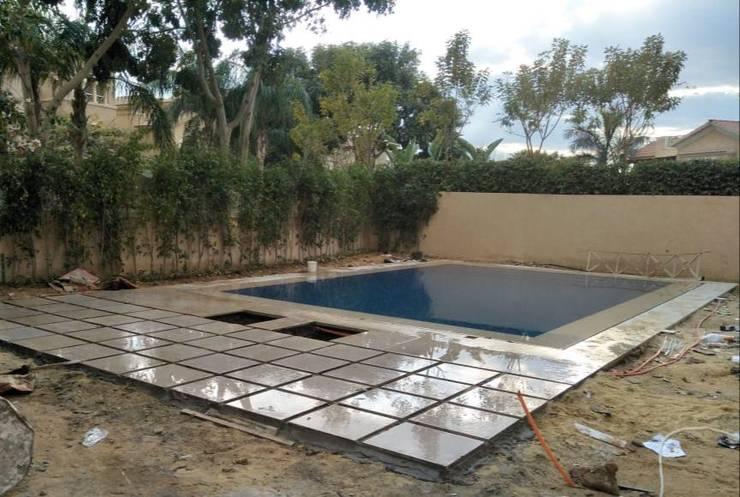 انشاء حمام السباحة :  مسبح حديقة تنفيذ smarthome,