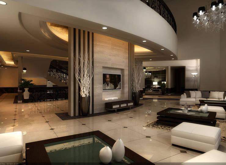 reception hall: حديث  تنفيذ smarthome, حداثي
