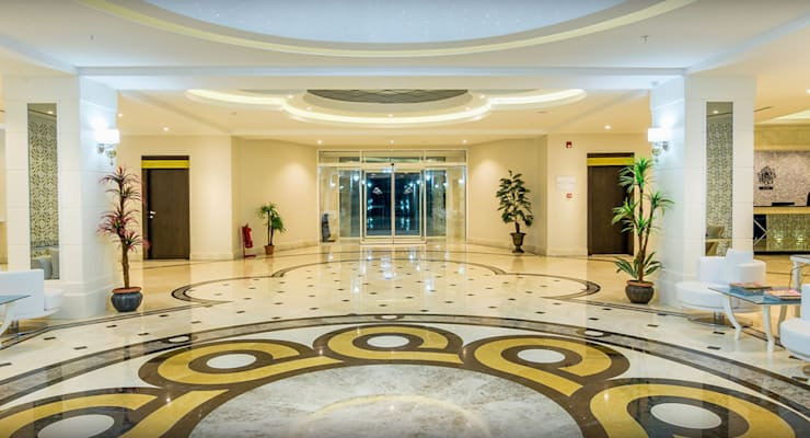 KALYA İÇ MİMARLIK \ KALYA INTERIOR DESIGN – Otel Girişi - Lobi:  tarz Oteller, Klasik Mermer