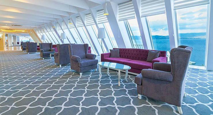 KALYA İÇ MİMARLIK \ KALYA INTERIOR DESIGN – Otel Lobi - Oturma Alanı:  tarz Oteller, Klasik