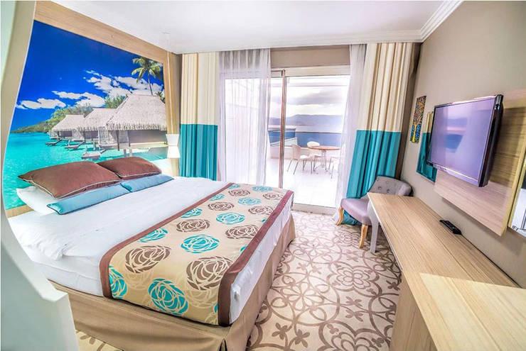 KALYA İÇ MİMARLIK \ KALYA INTERIOR DESIGN – Standart Otel Odası:  tarz Oteller, Klasik Ahşap Ahşap rengi