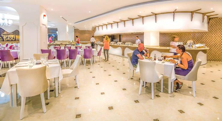 KALYA İÇ MİMARLIK \ KALYA INTERIOR DESIGN – Otel Ana Restoranı - Açık Büfe Alanı:  tarz Yeme & İçme, Klasik Ahşap Ahşap rengi