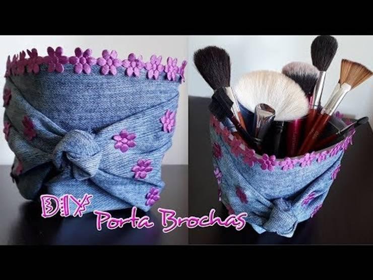 DIY PORTA BROCHAS - PORTA LÁPICES: Hogar de estilo  por Mariu Belo,