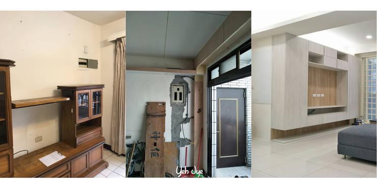 客廳系統櫃:   by 業傑室內設計,
