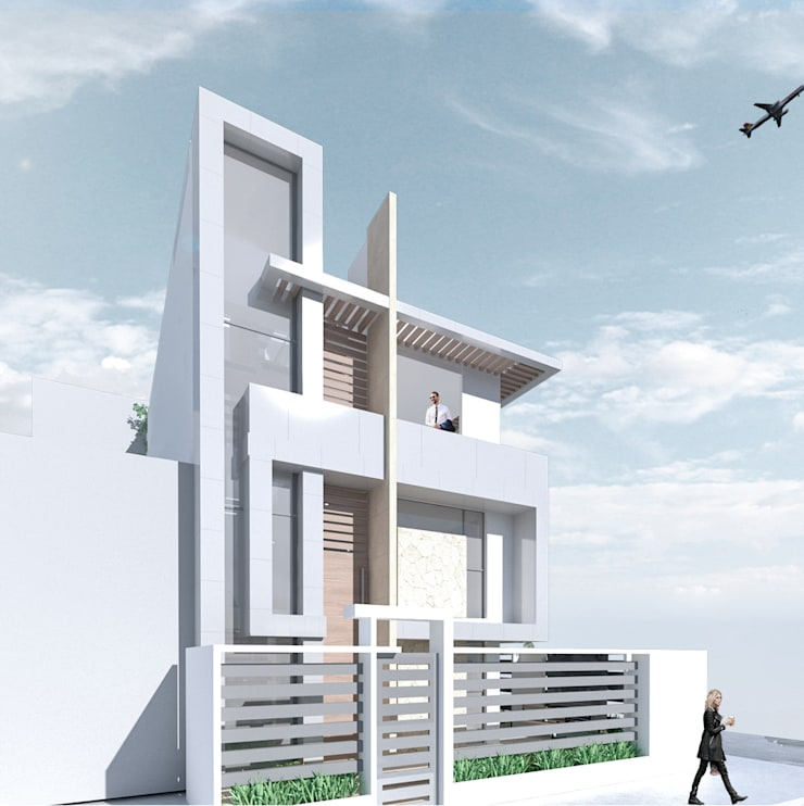 casa capri: Casas de estilo  por Am arquitectura,