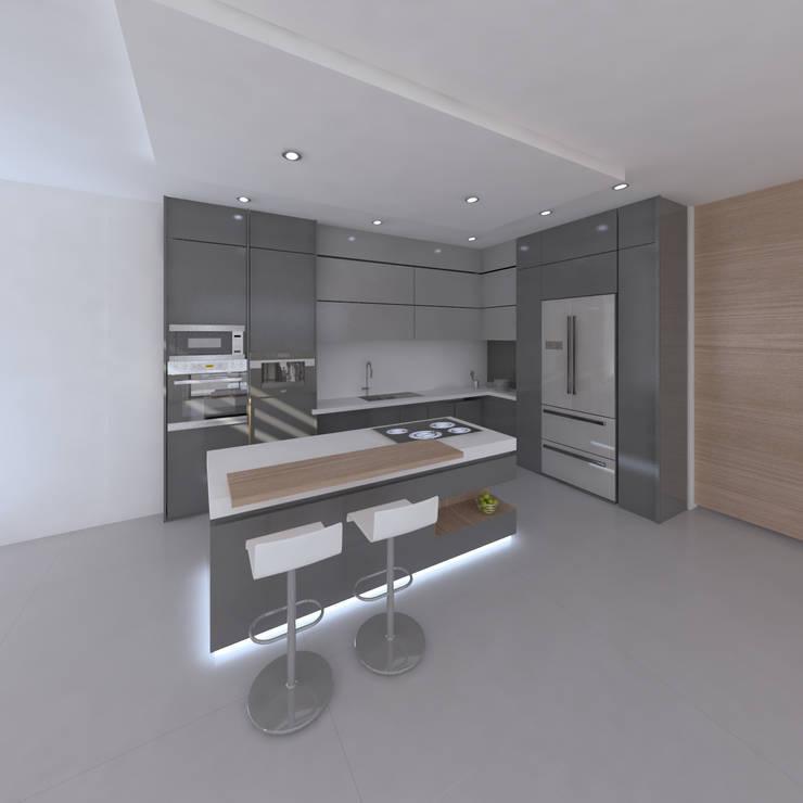 casa capri: Cocinas de estilo  por Am arquitectura,