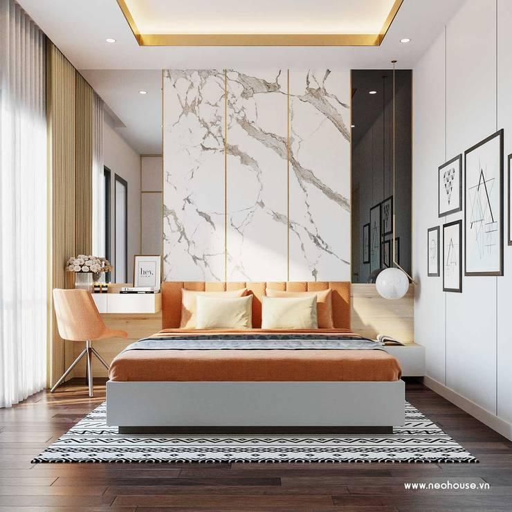 Mẫu thiết kế nội thất nhà phố hiện đại cao cấp 2019:  Bedroom by NEOHouse,