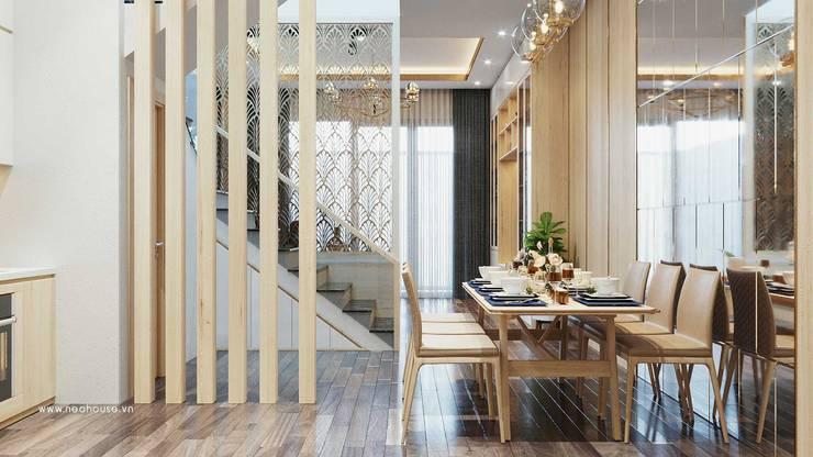 Mẫu thiết kế nội thất nhà phố hiện đại cao cấp 2019:  Dining room by NEOHouse,