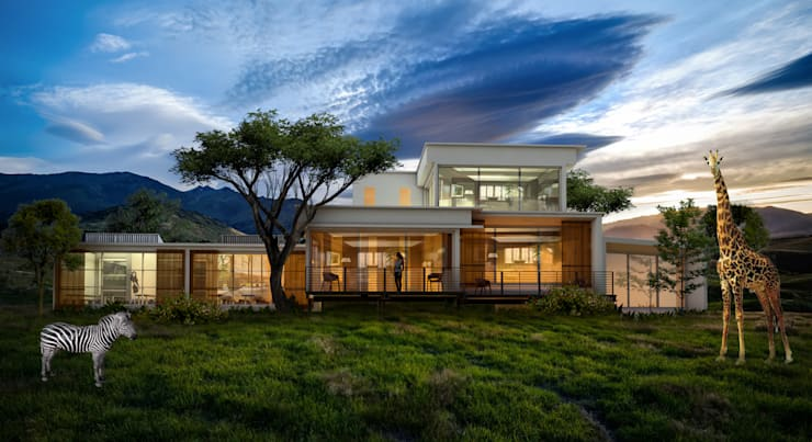 Bushveld Safari House: eclectic  by Bevel Interior Design, Eclectic