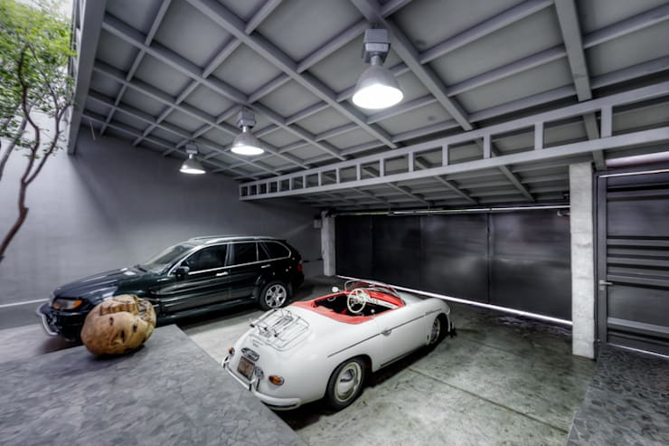 Prefabricated Garage by Con Contenedores S.A. de C.V., Industrial