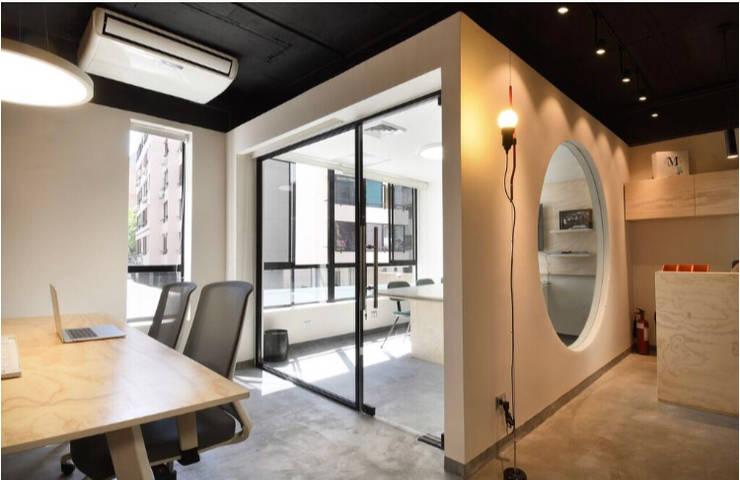 Proyecto oficinas: Oficinas y Comercios de estilo  por Espaciogracia, Industrial
