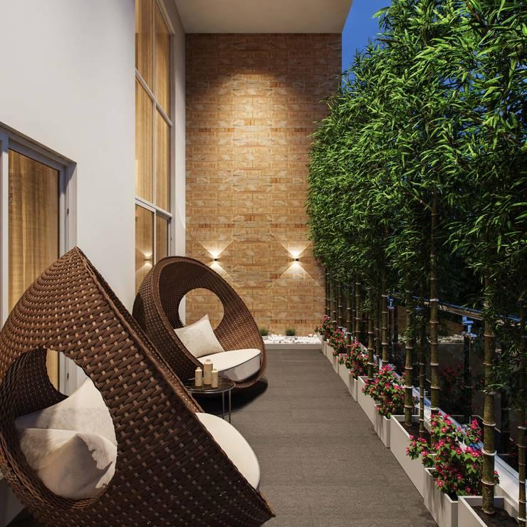 Balcony by De Panache  - Interior Architects,