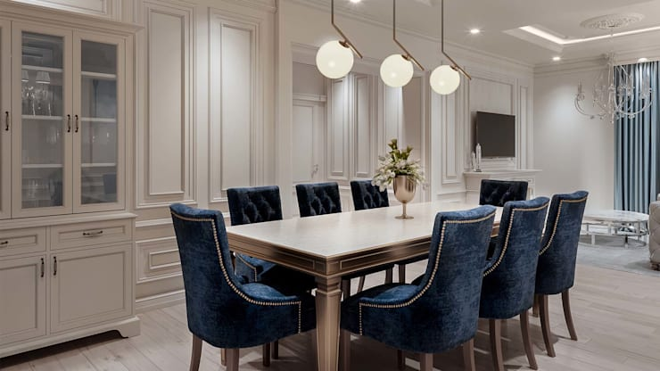 Dining room by De Panache  - Interior Architects,