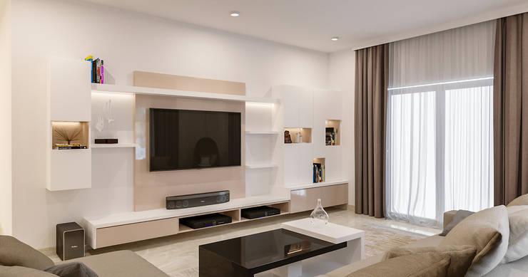 Living room by De Panache  - Interior Architects,