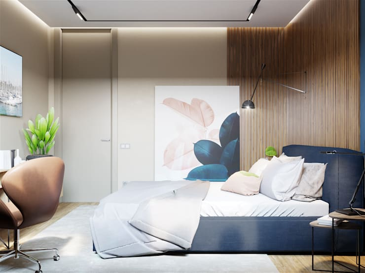Minimalist bedroom by «Студия 3.14» Minimalist