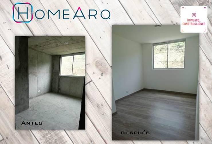 ANTES - DESPUES . Proyectos HOME!!!:  de estilo  por HOME ARQ,